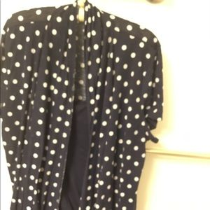 A year blue polka dot blouse